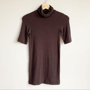 Theory Brown Short Sleeve Top Shirt Size S
